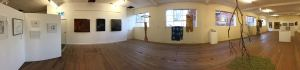 Panoramics of A Bright & Savage Land exhibition for SALA 2017, Onkaparinga Woollen Mill, Lobethal.