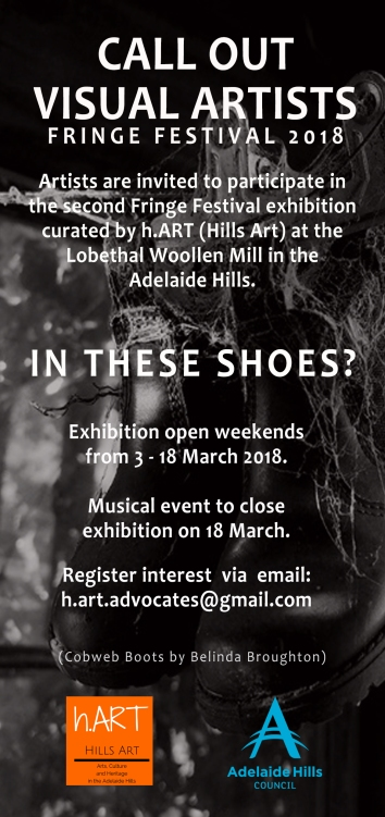Download press release for Fringe Festival Exhibition 'In These Shoes?'